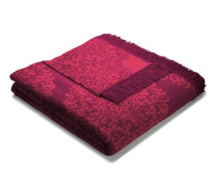 biederlack orion cotton Red Jewel Wohndecke