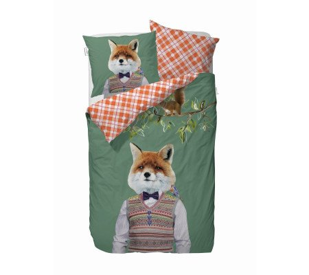 Covers Co Mr Fox Bettwäsche Set Green Ambiendo