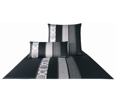 joop ornament stripe bettw sche schwarz ambiendo. Black Bedroom Furniture Sets. Home Design Ideas