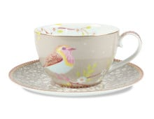 Pip Studio Early Bird Cappucinotasse und Untertasse