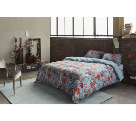 essenza verah bettw sche garnitur antique blue ambiendo. Black Bedroom Furniture Sets. Home Design Ideas