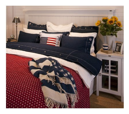 lexington star bedspread tagesdecke rot wei e sterne ambiendo. Black Bedroom Furniture Sets. Home Design Ideas