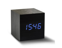 Gingko Cube Click Clock Black Wecker