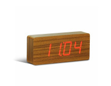Gingko Slab Click Clock Wecker
