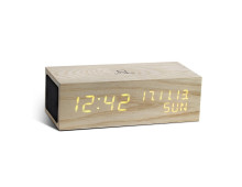 Gingko Click Clock Music Digitaluhr mit Bluetooth-Lautsprecher