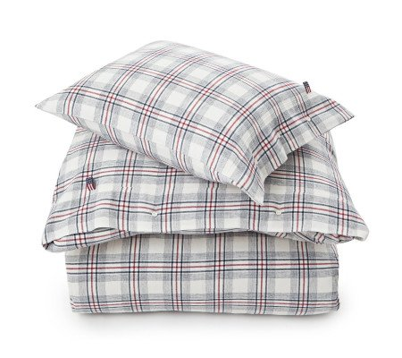 Lexington Checked Flannel Bettwäsche Set White Multi Ambiendo