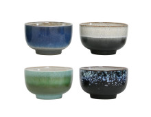 HK living 70's Ceramic Bowl Keramikschalen 4er-Set