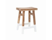 HK living Teak Stool Hocker