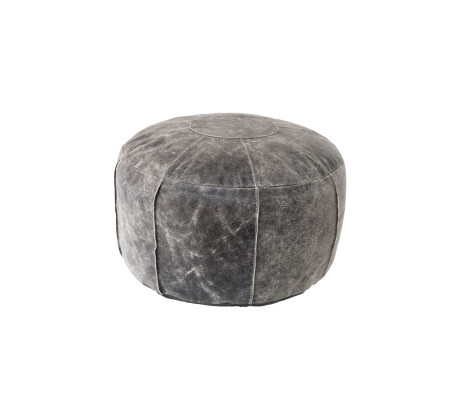 HK living Pouf Rustic Leather Hocker