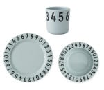 Design Letters Kids Melamine Numbers Kindergeschirr 3er-Set