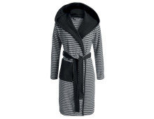 Esprit Striped Hoodie Bademantel mit Kapuze