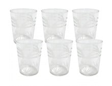 HK living engraved palms Wasserglas-6er-Set