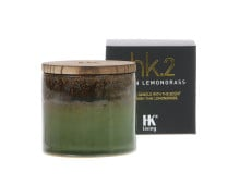 HK living ceramic soya hk2 Duftkerze - Asian Lemongrass
