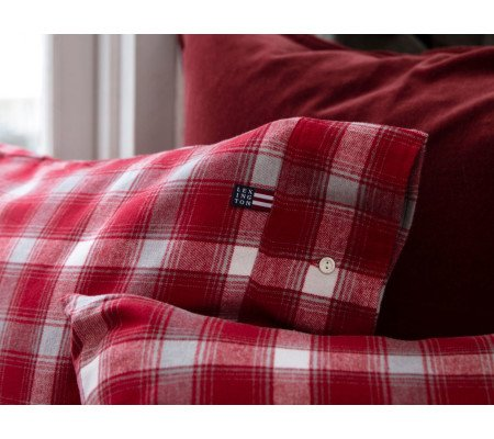 Lexington Checked Flannel Bettwäsche Set Aus Flanell Redgray Ambiendo