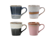 HK living 70's Ceramic Espressobecher 4er-Set