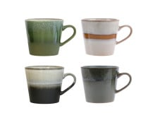 HK living 70's Ceramic Cappuccino Becher 4er-Set