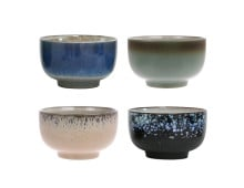 HK living 70's Ceramic Bowl Keramikschüssel 4er-Set