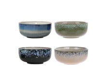 HK living 70's Ceramic Keramikschalen Medium 4er-Set