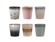 HK living 70's Ceramic Mug Keramik-Becher 6er-Set