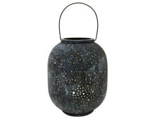 HK living eroded brass lantern Messing-Laterne