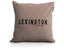 Lexington Logo Velvet Sham Deko-Kissenhülle