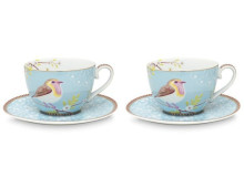 Pip Studio Early Bird Tasse mit Untertasse 2er-Set