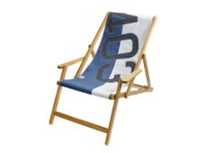 727Sailbags Deck Chair with Armrests Bicolored Liegestuhl