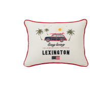 LEXINGTON Surf Car Cotton Kissen mit Füllung