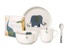 ASA KIDS Emma Elefant Kindergeschirrset - 5 teiliges Set