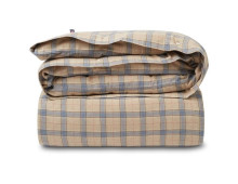 LEXINGTON Checked Cotton Flannel Bettdecken-Bezug