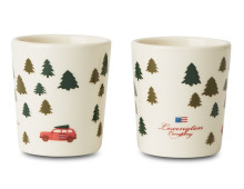 LEXINGTON Holiday Earthenware Espressotasse - 2er Set